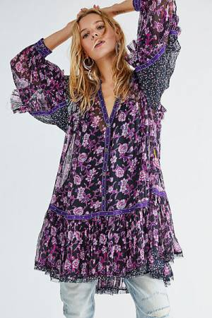 "Free People Boho Mini Dress ""Rosebud"""