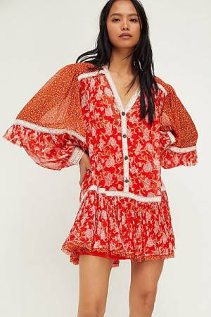 "Free People Mini Dress ""Bohemian Rosebud"""