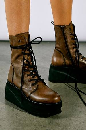 "Free People Platform Lace-Up Boots ""Nella"""