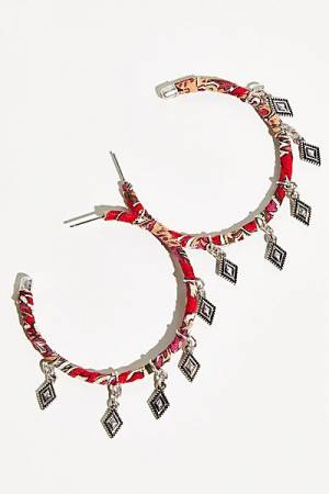 "Free People Hoop Earrings ""Bohemian Sari"""