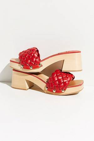 "Red Retro Sandal Clogs ""Quincy"""