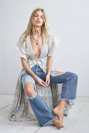 "Free People Maxi Top ""Field Of Dreams"""