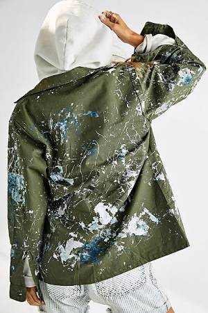 "Rialto Military Shirt Jacket ""Studio Splatter"""