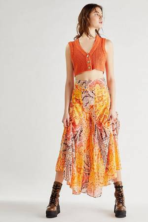 "Free People Wide Leg Pants ""Sunsoaked"""