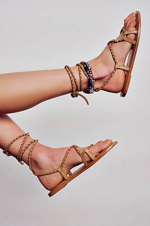 "Free People Wrap Sandals ""Daisy Dream"""