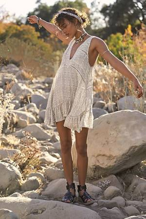 "Free People Mini Slip Dress ""Let It Happen"""