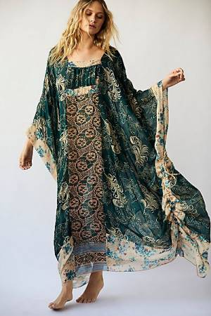 "Anna Sui Bohemian Maxi Dress ""Upcycle Kaftan"""