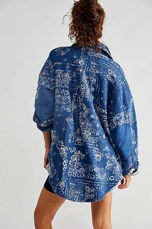 "Free People Jacket ""Indigo Bandana Ruby"""