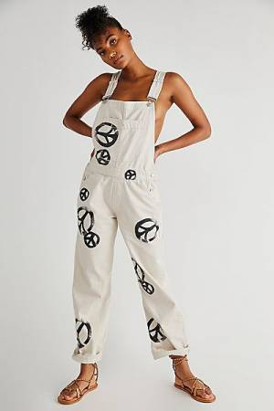 "Free People Denim Overalls ""Ziggy Peace"""