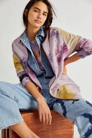 "Maria Bouvier Bomber Jacket ""Washed Purple Tie Dye"""