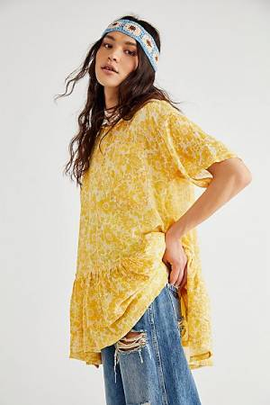 "Free People Top ""Flutterby Frock Tunic"""
