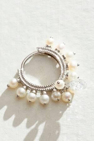 """Maria Tash Hoop Earring """"Pearl Coronet Ring"""""""
