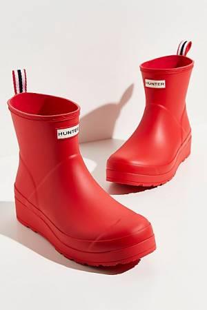 "Hunter Short Rain Boots ""Play Red Wellies"""