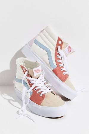 """Vans Sk8-Hi Platform 2.0 Sneakers """"Twill Pastel"""""""