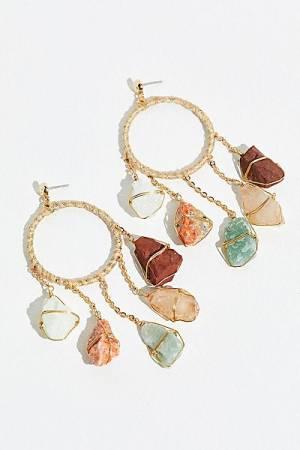 "Ariana Ost Hoop Earrings ""Garland Crystals"""