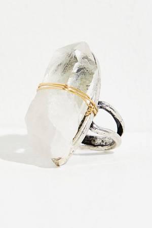 Revello Large Clear Quartz Ring