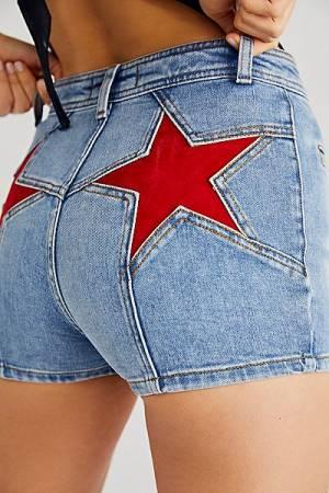 "Free People Denim Shorts ""Firecracker"""