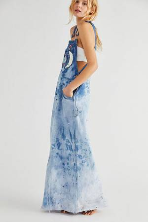 "Tricia Fix Denim Overalls ""Funky Long Skirtall"""