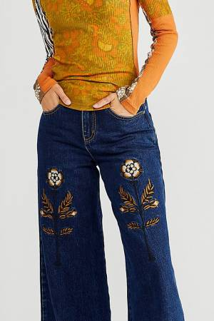 """Meadows Embroidered Jeans """"Tudor"""""""