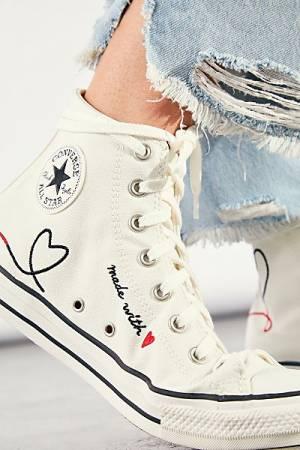 "Converse Chuck Taylor All Star Hi-Top Sneakers ""Love"""