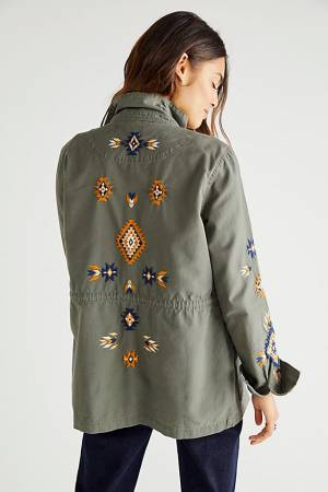 """Driftwood Embroidered Utility Jacket """"Dylan"""""""