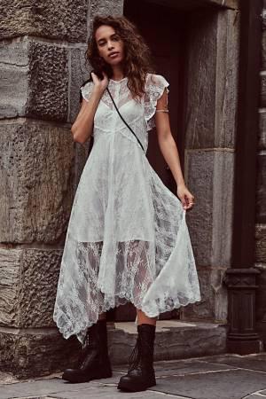 "Free People Midi Dress ""Lianna Lace"""