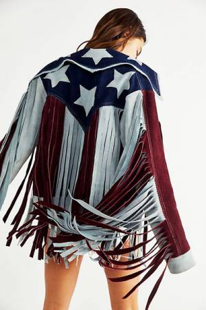 "Understated Leather Fringe Jacket ""American Woman"""