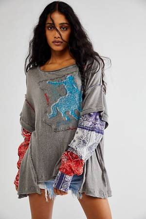 """Free People Top """"Rodeo Graphic Tee"""""""