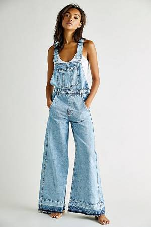 "Free People Jeans ""Flora Denim Overalls"""