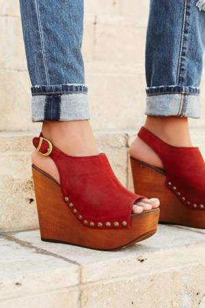 "Jeffrey Campbell Clog Wedges Shoes ""Olivia"""