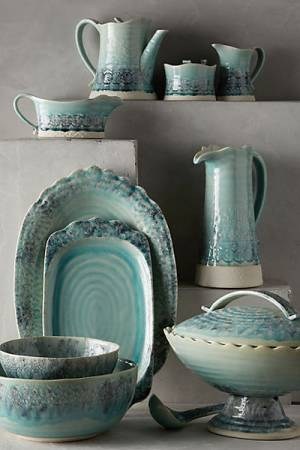 "Anthropologie Stoneware Dinning Collection ""The Old Havana"""