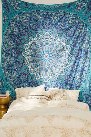 Magical Thinking Danie Boho Blue Medallion Tapestry