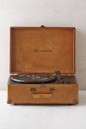 Crosley Keepsake Wood Portable USB Vinyl Record Player
