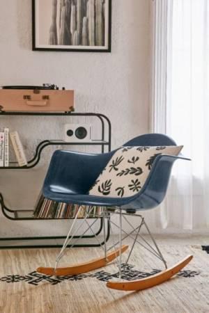 Modernica Fiberglass Blue Arm Shell Rocking Chair