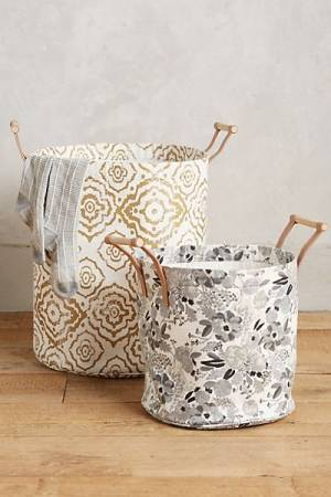 "Laundry Hamper Tote ""Watercolor"""