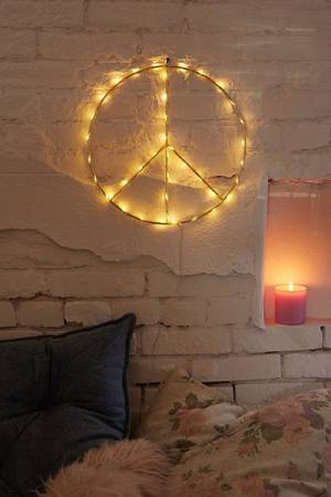 Peace Sign Light Sculpture