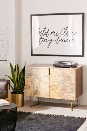 Holli Zollinger For Deny French Linen Marble Credenza
