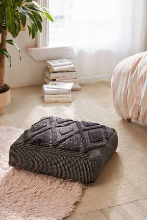 Lua Textured Boho Floor Pillow