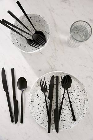 Black Matte Flatware Set