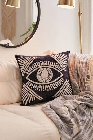 Magic Eye Velvet Throw Pillow