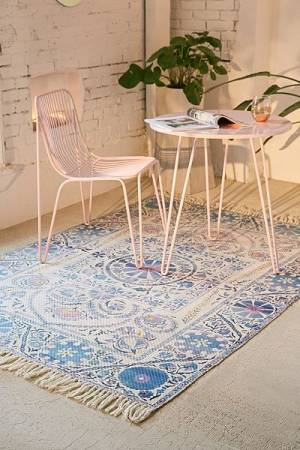 "Bohemian Indoor/Outdoor Printed Rug ""Zellie"" Boho Decor"