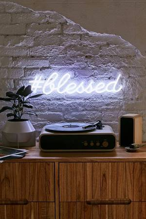 "The Oliver Gal Artist Co. LED Neon Sign ""#blessed"""