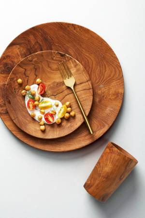 "Anthropologie Wooden Dinnerware Set ""Madera"""