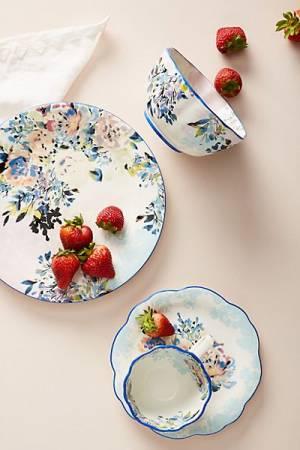 "Dinner Plates Set ""Gardenshire"""
