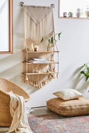 "Macramé Wall Shelf ""Marina"""