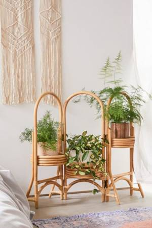 Natural Rattan Plant Stand