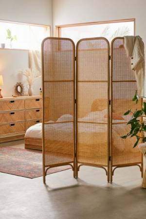 "Rattan Room Divider Screen ""Ria"""