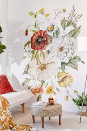 Wildflower Bouquet Wall Mural