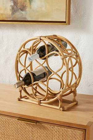 "Rattan Tabletop Wine Rack ""Elijah"""