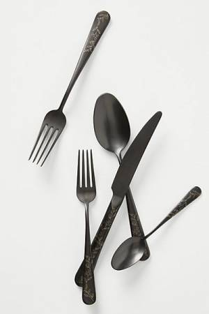 "Unique Kitchen Flatware Set ""Olivette"""